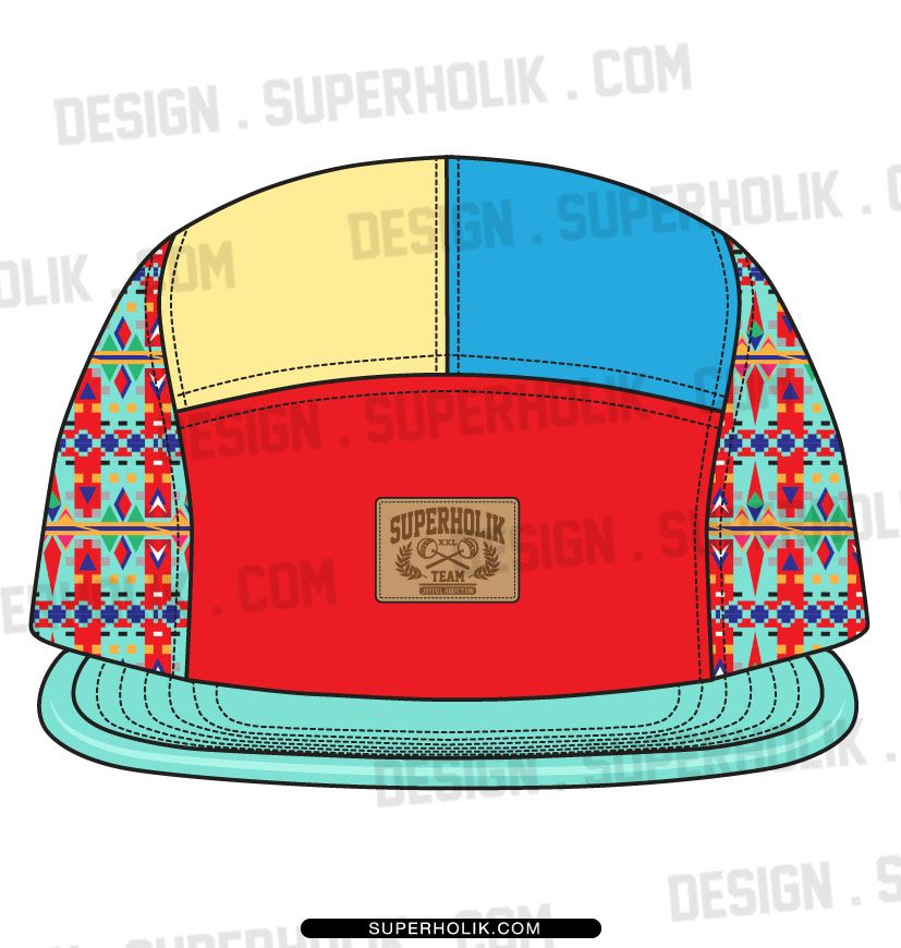 5 panel hat template | Fashion Vector Templates | Pinterest | Hat ...
