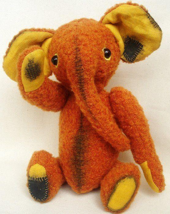 Выкройки Слоны Тедди