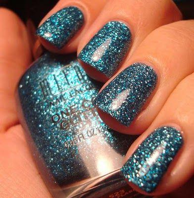 milani gems one coat glitter in blue flash bright blue