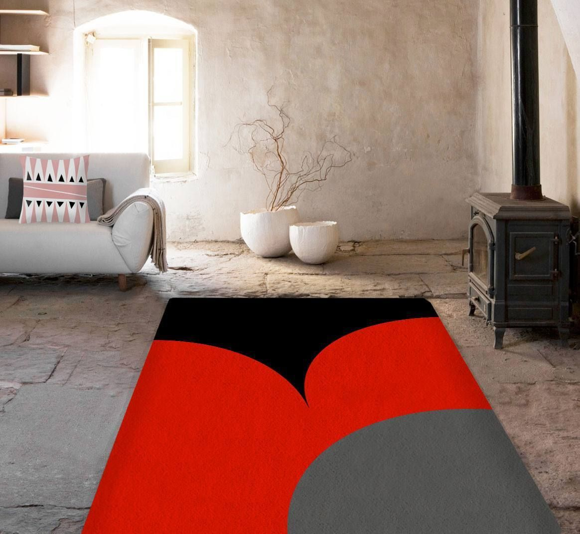 Black And Red Rug