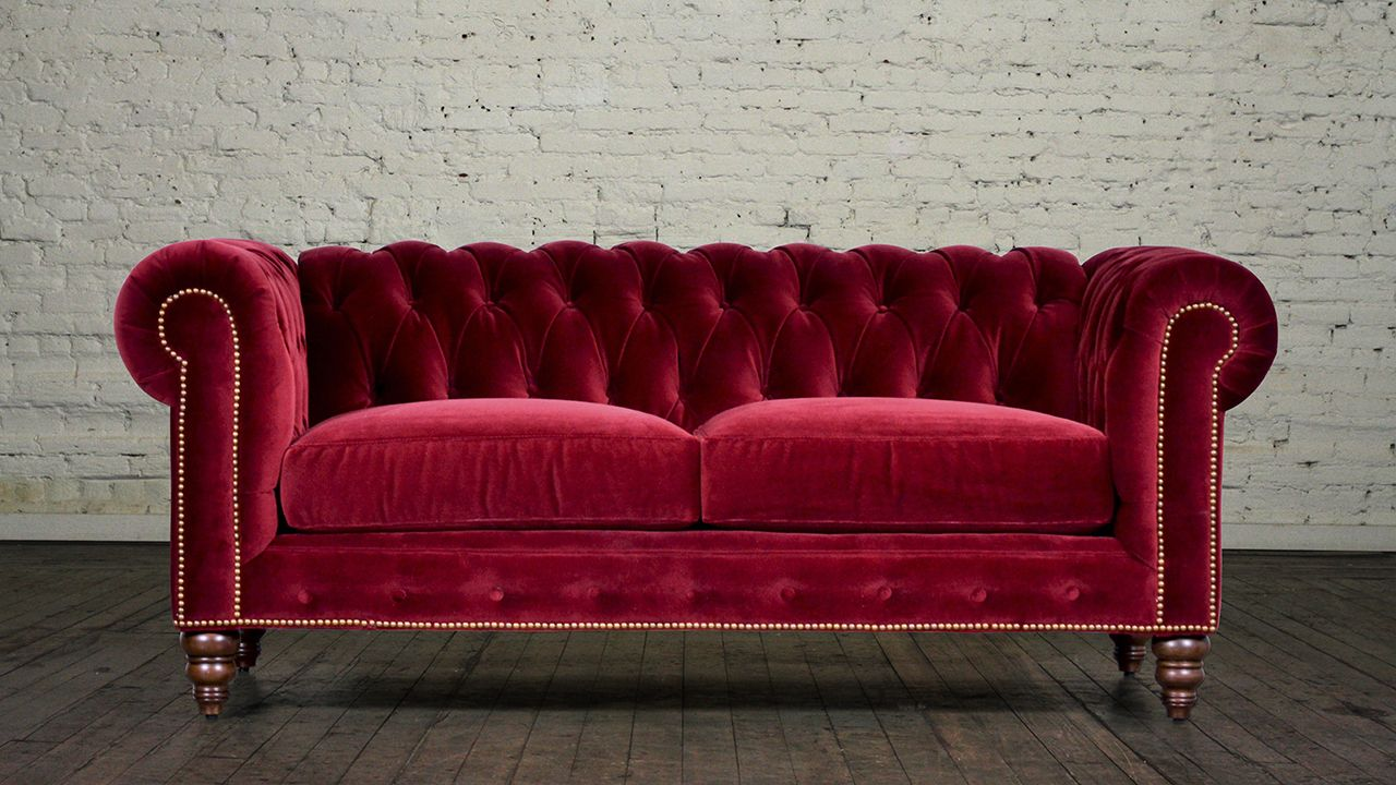 Red Velvet Chesterfield Sofa Home Sofa