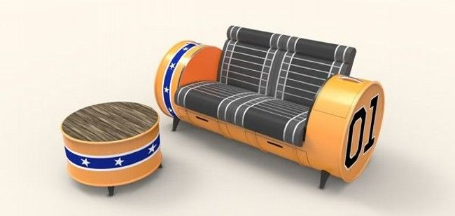 recycle furniture ideas. recycled metal drums furniture idea recycle ideas a