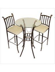 Great 3 Piece Indoor Bistro Set | WhereIBuyIt.com