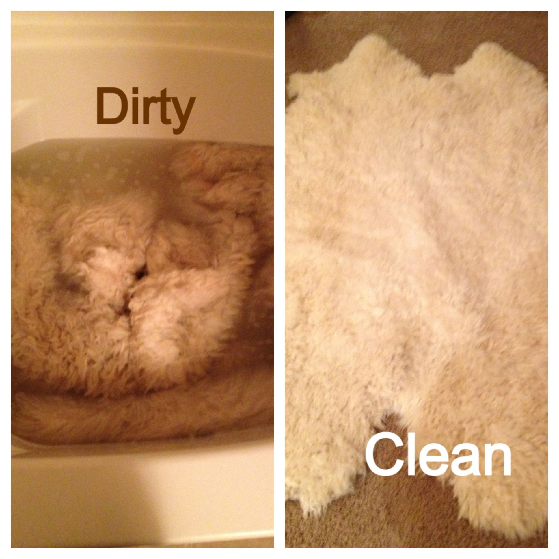 Tips And Tricks How To Clean Sheepskin Rugs At Home Wash In Tub With Room Temp Water Using Baby Shampoo Hang Outside To Cleaning Pom Pom Rug Laundry Hacks