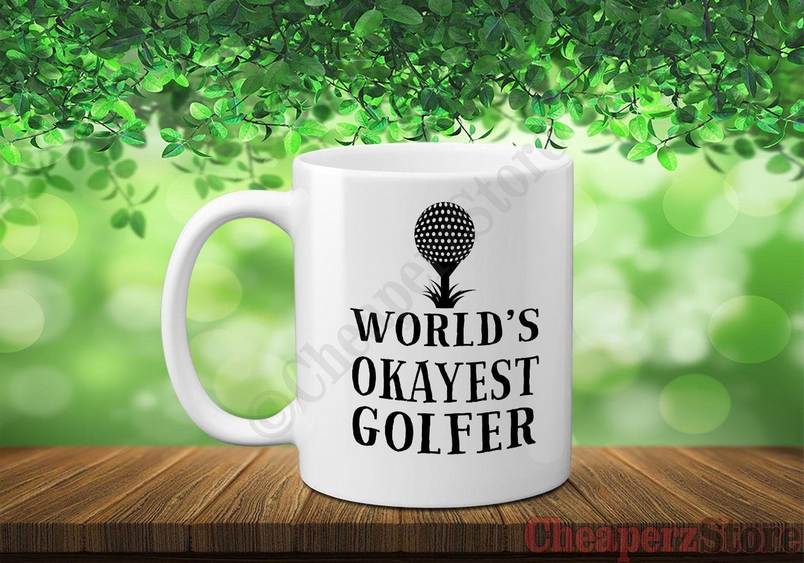 Funny Golf Coffee Mug, World's Okeyest Golfer Mug, Golf