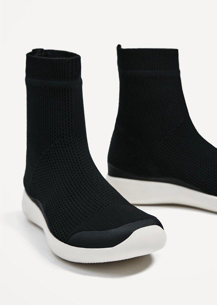 Shop @zaraofficial's latest spring-ready footwear trends via @STYLECASTER |  Sock-Shoe
