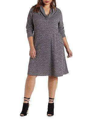 Plus Size Cowl Neck Sweater Dress Charlotte Russe Me Clothes