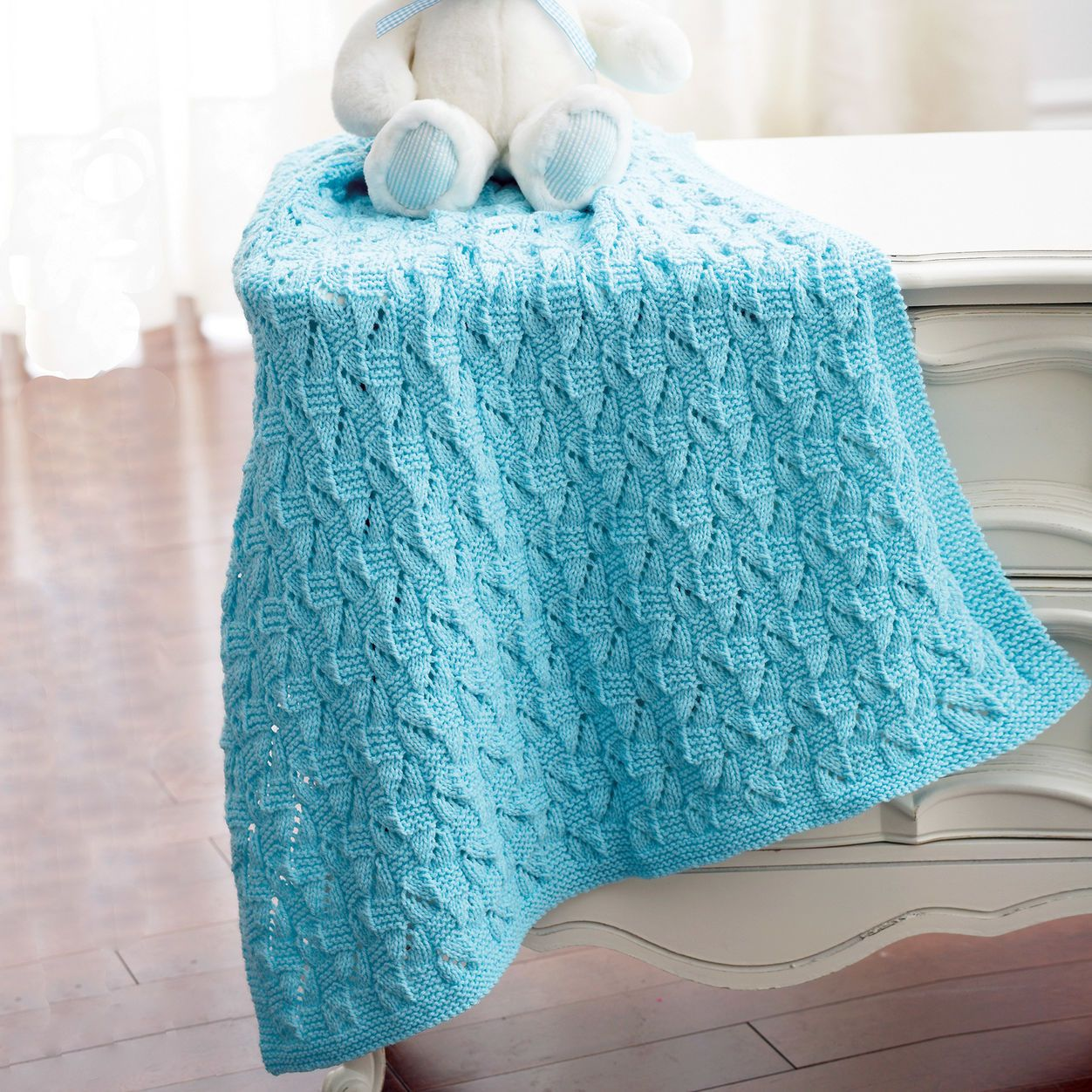 Bernat Staggered Squares Blanket. Interesting stitch ...