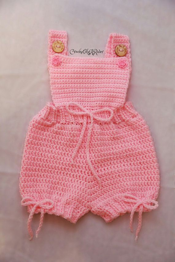 Romper baby/toddler crochet outfit. All items by CrochetYouARiver ...