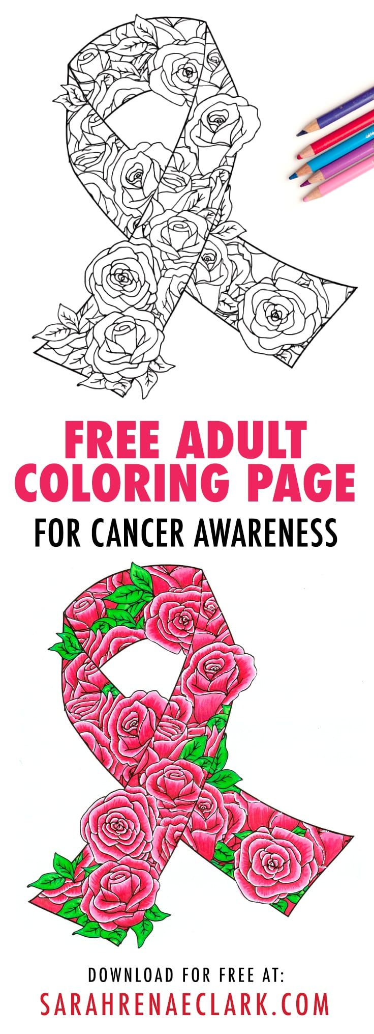 Free awareness ribbon coloring page coloring for cancer awareness