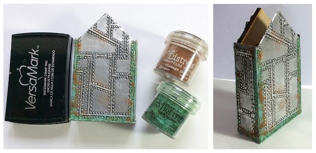 That Craft Place Challenge Blog: Steampunk Shrine Tutorial by Julie Lavalette