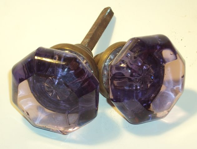 Elegant Purple Antique Door Knobs | Purple Door Knobs Virtually The Same As Our  Popular Cut Glass Knobs .