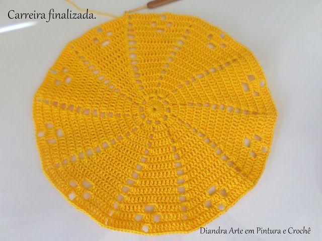 Diandra Arte em Crochê: PAP- TRILHO DE MESA RAIO DE SOL
