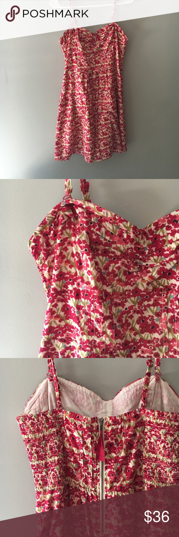 Spaghetti strap sundress This fun summer dress is perfect for sunny days! This dress also has adjustable straps. Willing to go down on price! Just make me an offer! American Eagle Outfitters Dresses