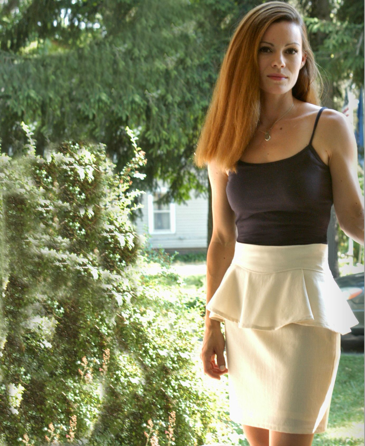Skirt with removable peplum tutorial
