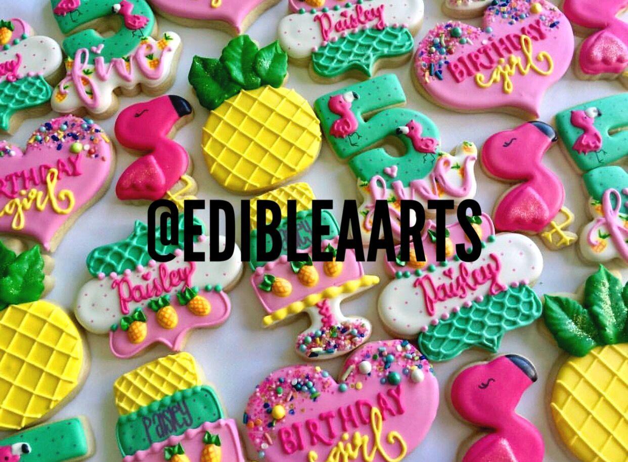 Edibleaarts on Instagram! Pineapple cookies, Cookies