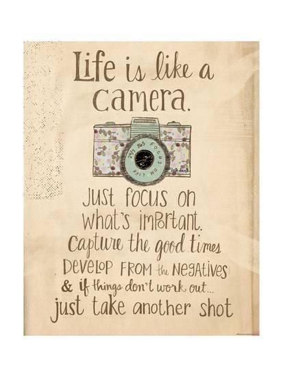 'Life Is Like a Camera' Prints - Katie Doucette | AllPosters.com