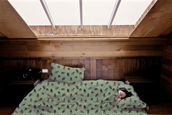 http://www.lillyputstudio.com/ CACTUS, SHEETS, BED, BEDROOM, ILLUSTRATION, LILLYPUT