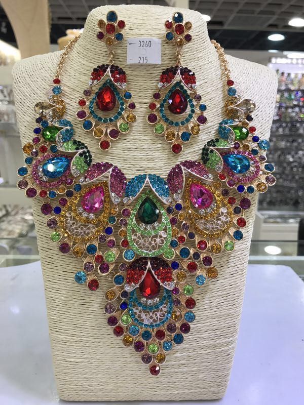 4a2cc2295cd7cf Colorful Peacock Crystal Rhinestone Jewelry Sets Whatsapp: 008613691301343
