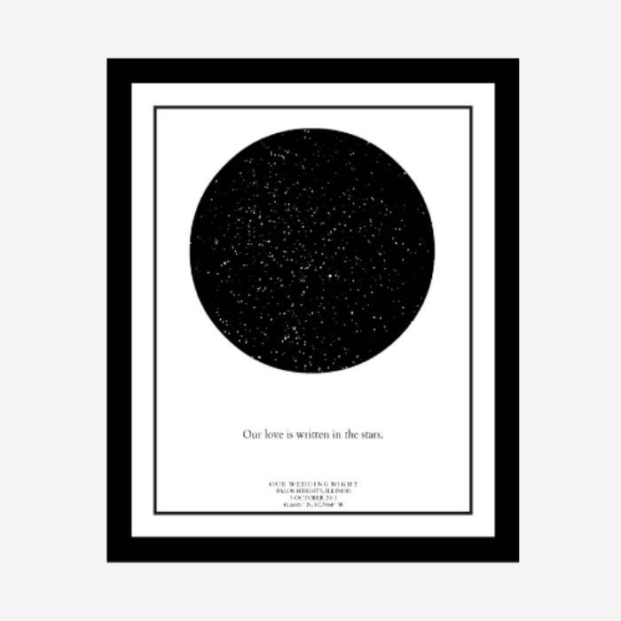 Custom Star Map Personalized Star Map Star and Constellation print