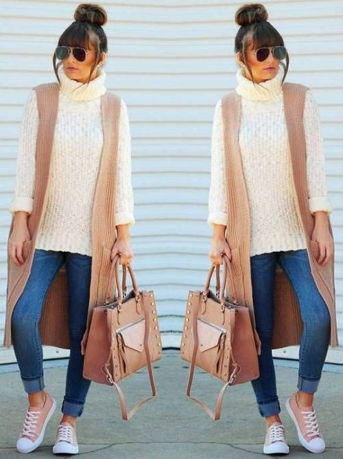 333ed7785a tan-and-creamy-vest-outfit- Easy weekend fall outfits http