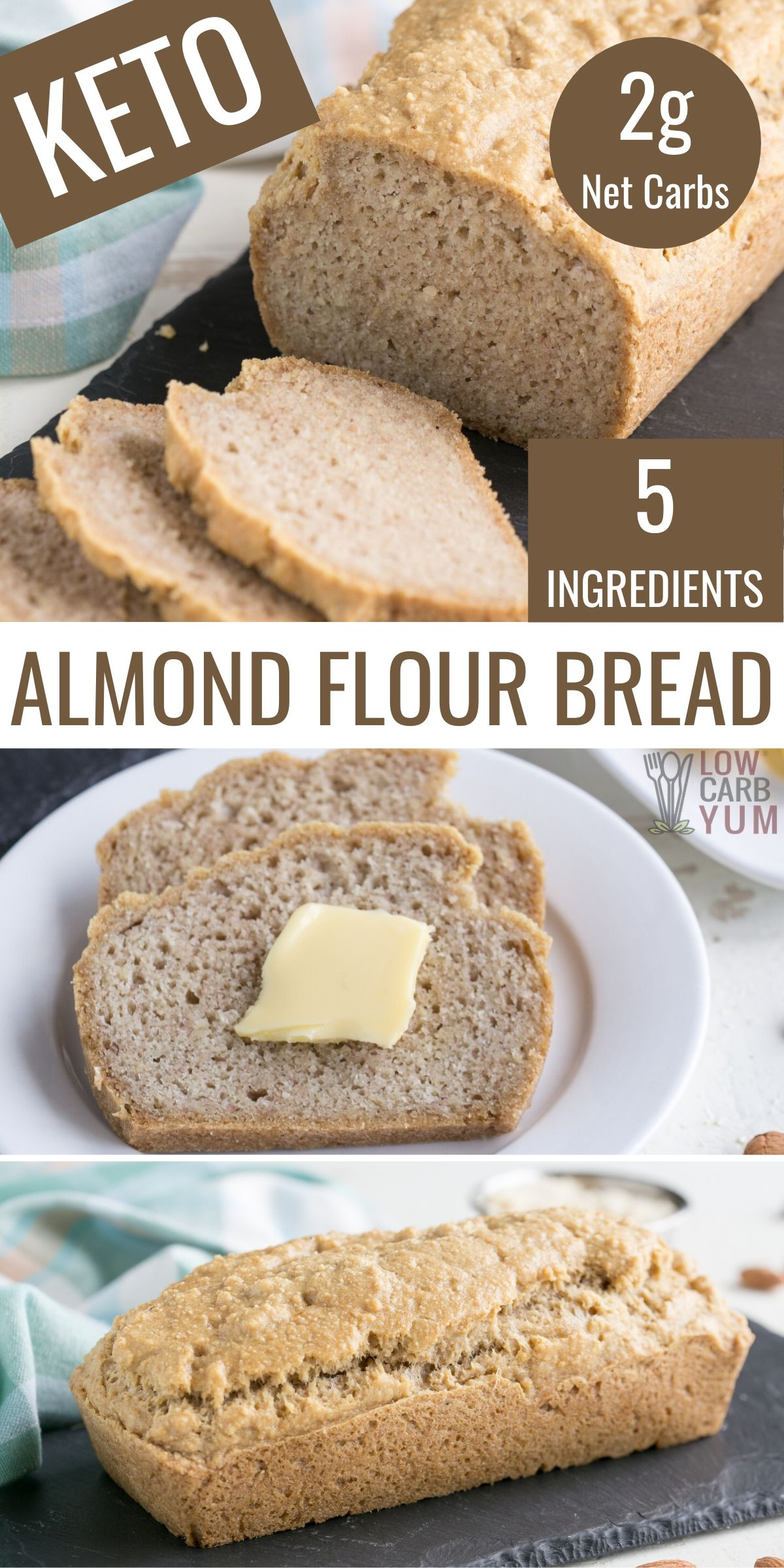 Grain Free Bread Made With Almond Flour Fits Perfectly Into Gluten Free Paleo Keto And Low Carb Di In 2020 Keto Recipes Easy Low Carb Keto Recipes Keto Diet Recipes