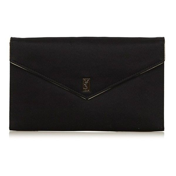 69f40916dc6f Vintage YSL Satin Clutch Bag ($316) ❤ liked on Polyvore featuring bags,  handbags, clutches, black, satin handbags, satin purse, satin clutches,  yves saint ...