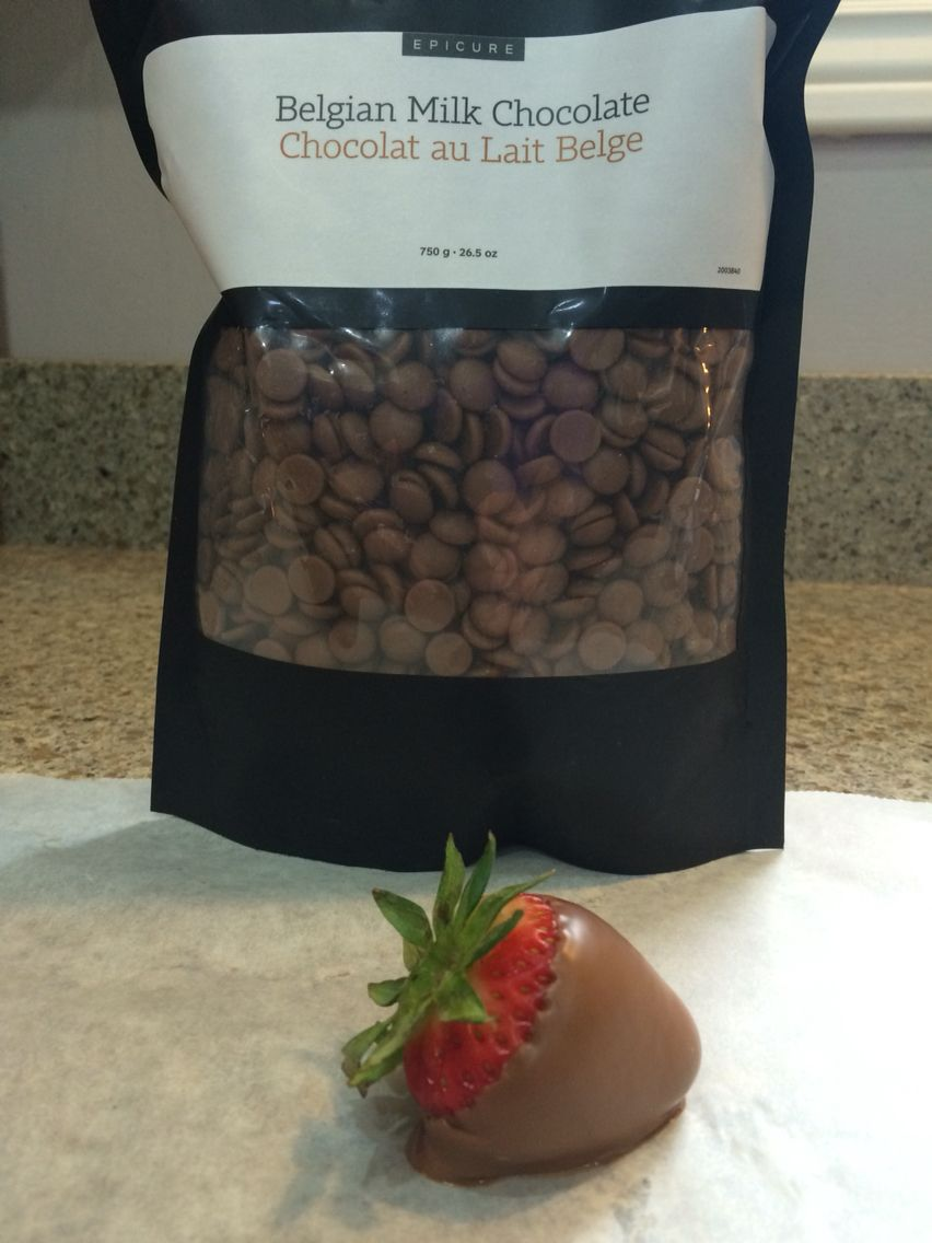 Chocolate hugging strawberries is a special treat with Epicure.