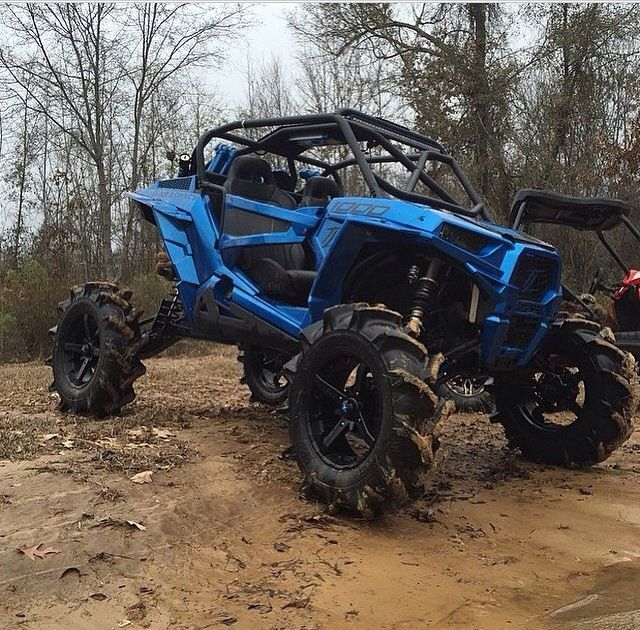 Blue Custom Rzr 1000 Atv Dirtbikes Rzr