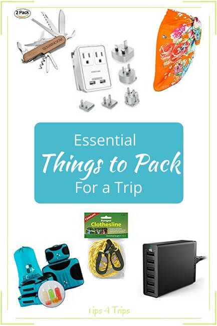 Essential Things to Pack for a Trip| Include these Must-Have Items in Vacation Checklist | Pack These Travel Gadgets #TravelGadgets #TravelAcessories  https://www.traveltips4trip.com/essential-things-to-pack-for-a-trip/
