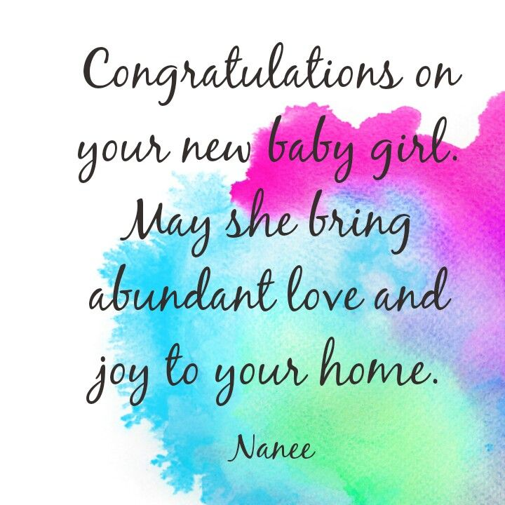 Birth Of A Baby Girl Quotes: Congratulations Baby Girl