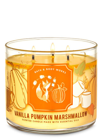 Bath & Body Works Vanilla Pumpkin Marshmallow 3-Wi