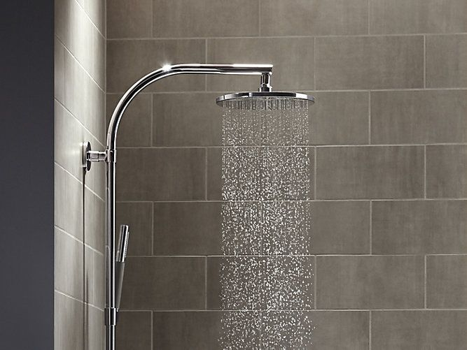 Luxury 10 Inch Contemporary Round Rain Showerhead 2 5 GPM K Amazing - Awesome contemporary shower heads Ideas