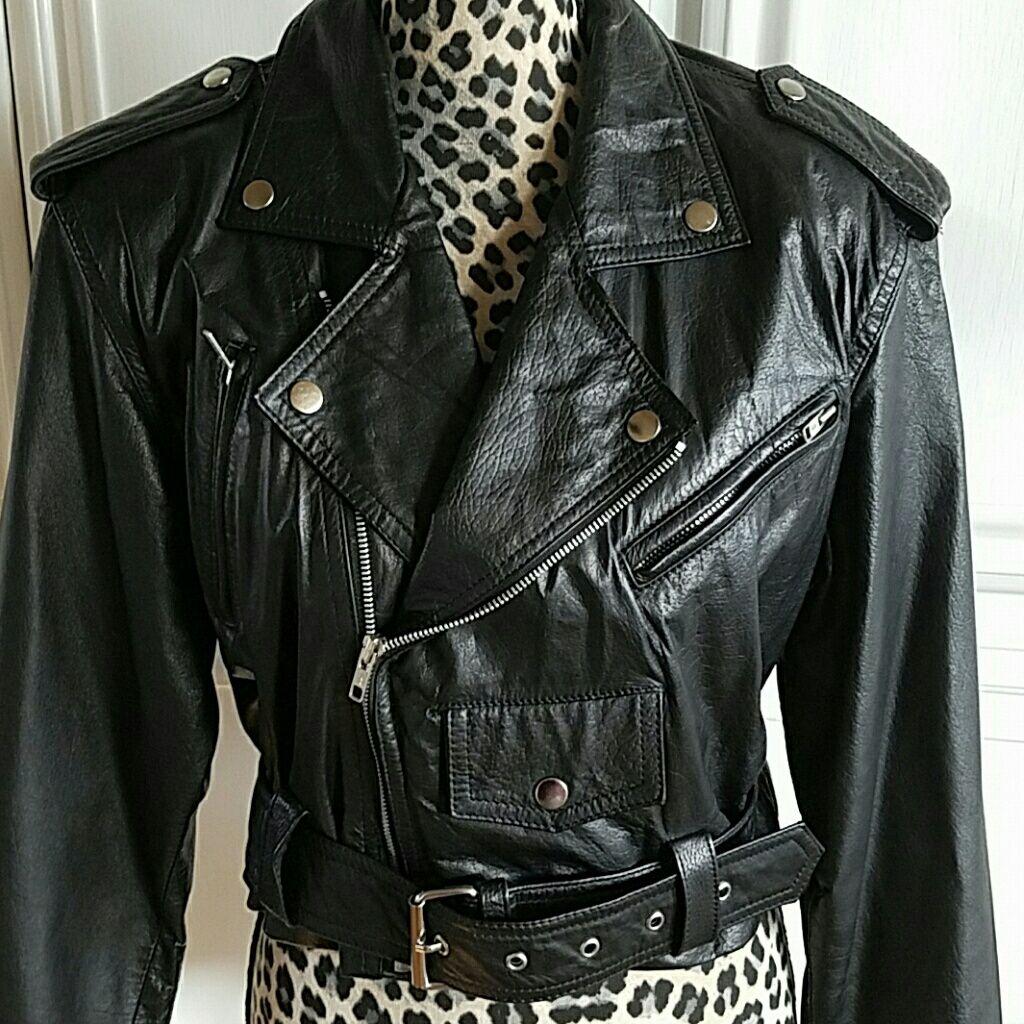 Genuine Leather Moto Style Jacket
