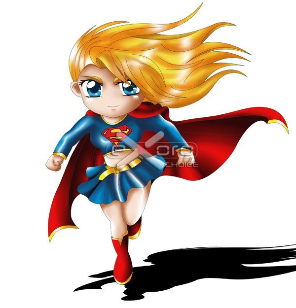 Supergirl Chibi | Heroes | Pinterest | Supergirl, Chibi ...