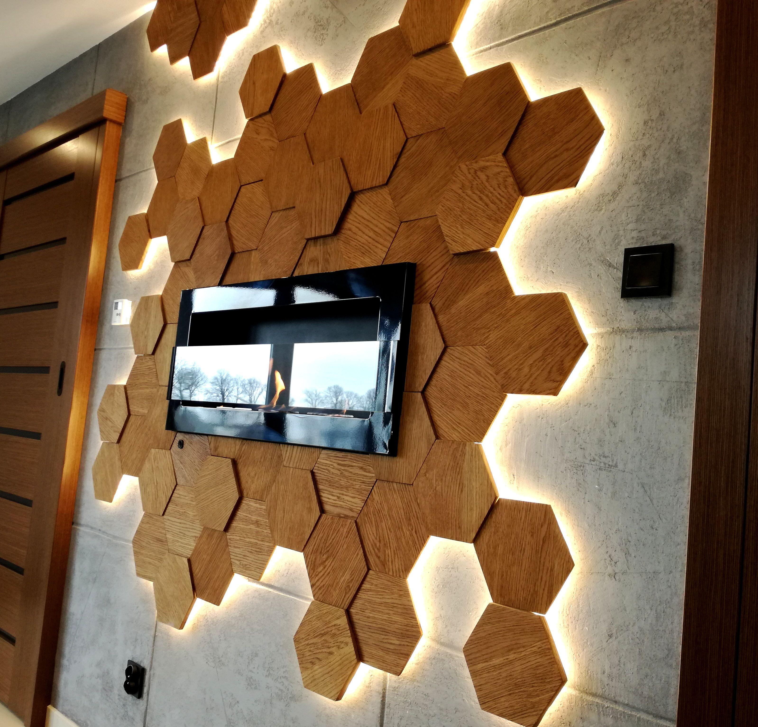 Drewniane Panele Scienne Skotiwood 3d Wall Panels Wall Lights Loft Design