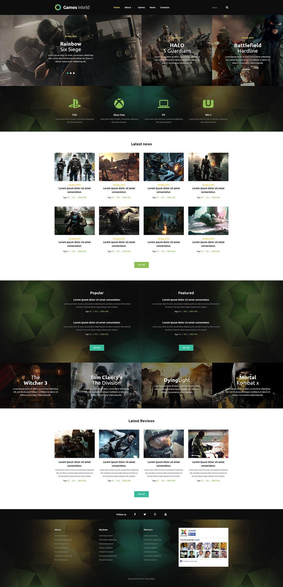 Game Portal Joomla Template New Website Templates