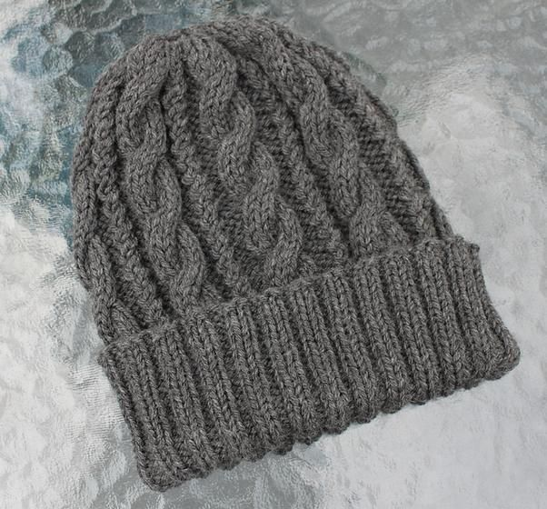 knitting patterns for hats | Cables & Twists Hat - Knitting Patterns ...