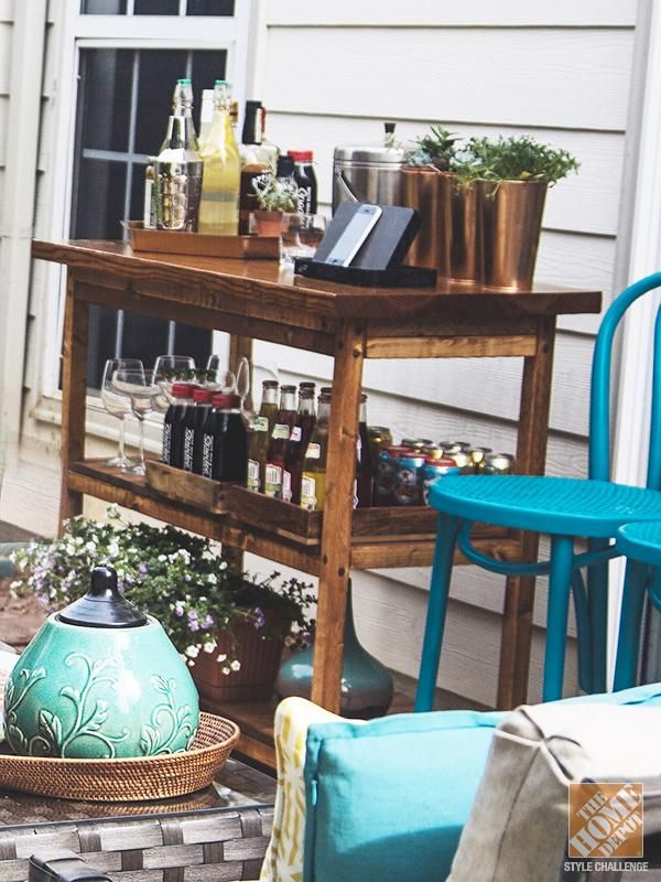 simple patio decorating ideas throw pillows and spray paint