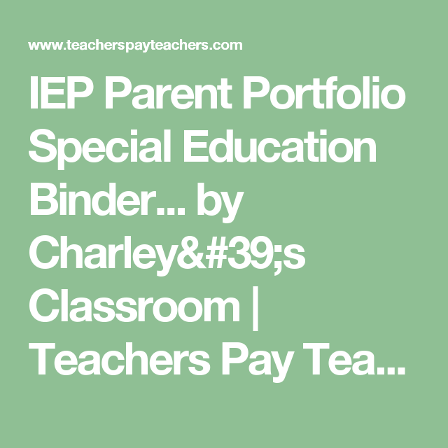 Special Education Binder For