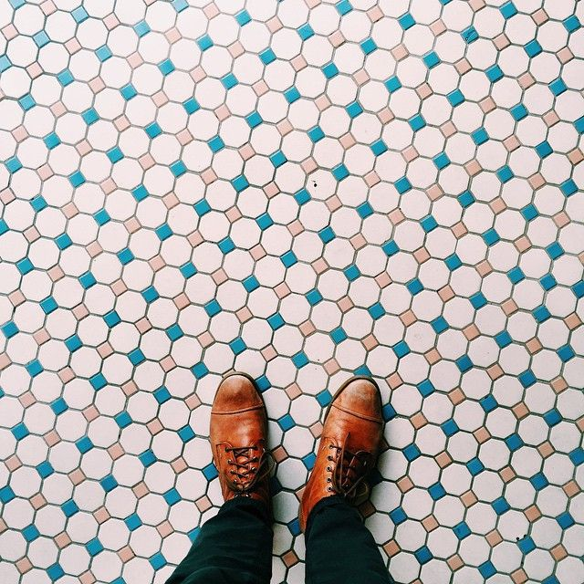 Don't know whether I like the floor or the shoes more.