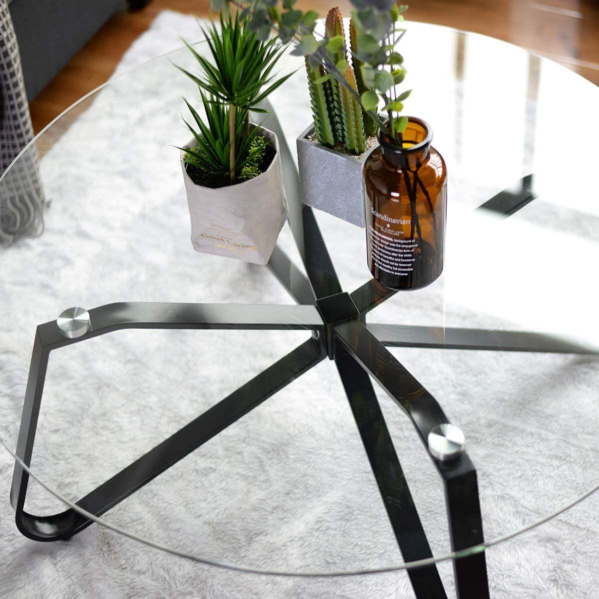 Table Basse En Verre Trempe Table De Salon Table De Canape Minimaliste Moderne Table Design Table Decorations Decor
