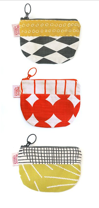 Our brand new MAKING FRIDAY section is a selection of super-crazy Skinny laMinx fabric combinations made up into Mixed Up zip purses & bags.