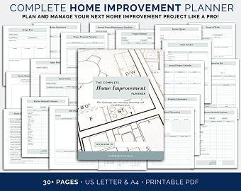 The Ultimate Home Renovation Planner US Letter A4 A5 Life Planner Printable Life Binder Life Organizer Bud Binder