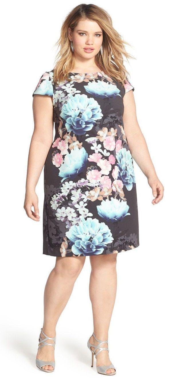 Plus size shift dress casual stylebagsshoes estilo formal