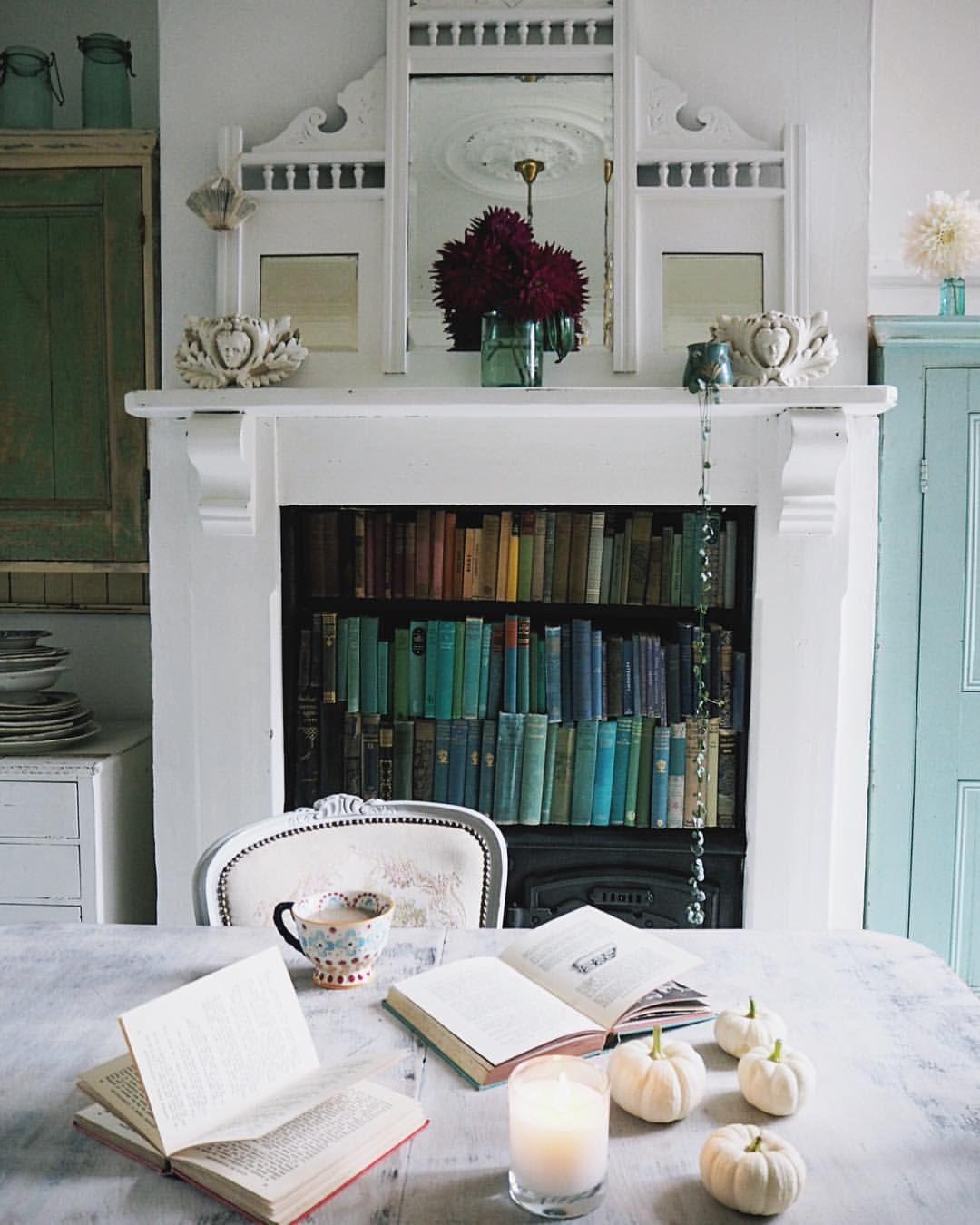 Fireplace book shelf | Decor, Room inspiration, Fireplace