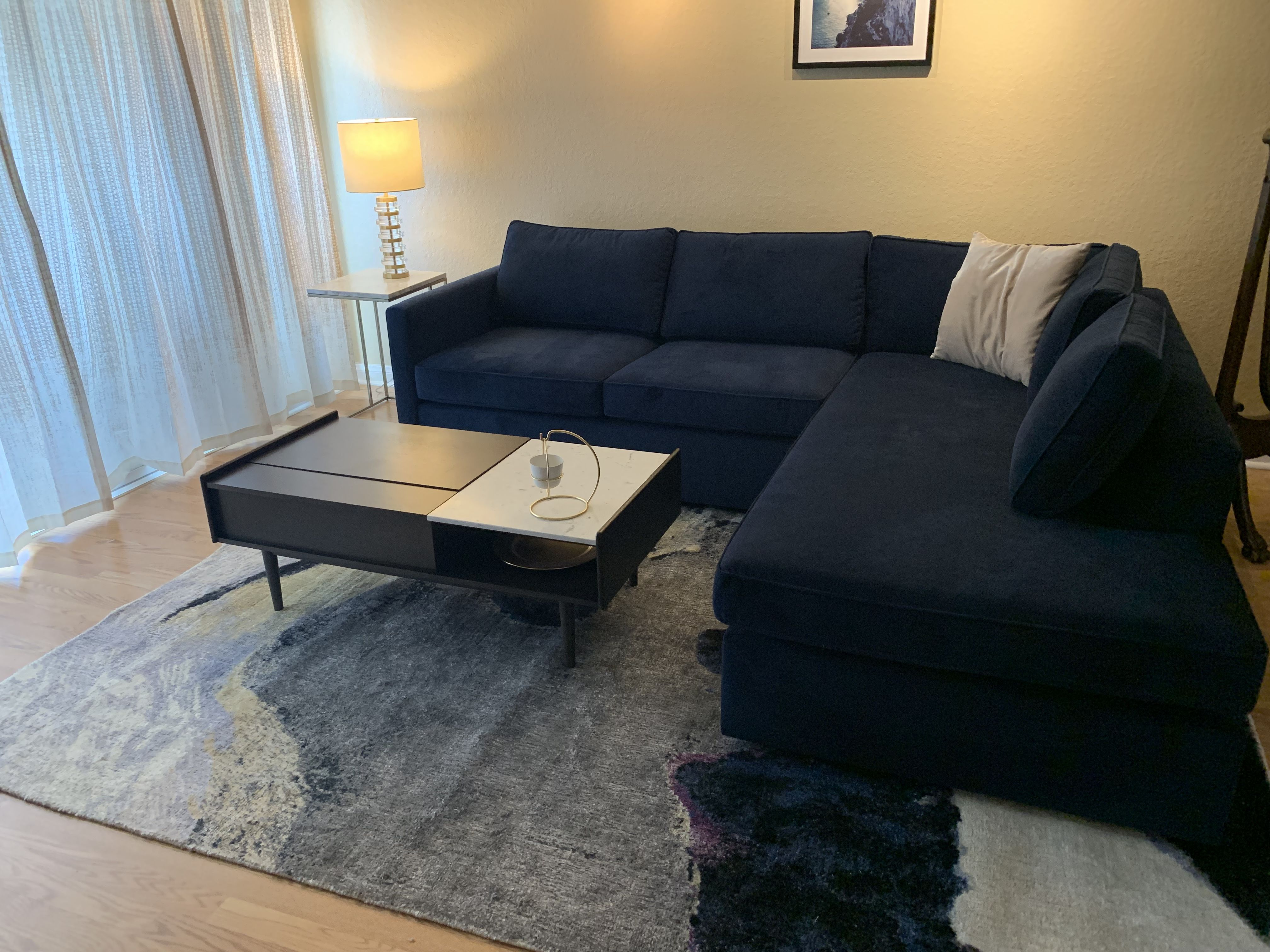 Velvet Couch Ink Blue Mid Century Modern Velvet Couch Living Room West Elm Sofa Grey Couch Living Room