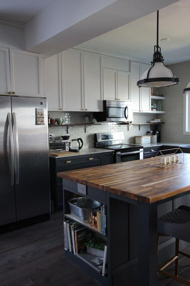 diy kitchen island using ikea cabinets and mdf kitchen makeover reveal house by the bay on kitchen island ideas diy id=19637