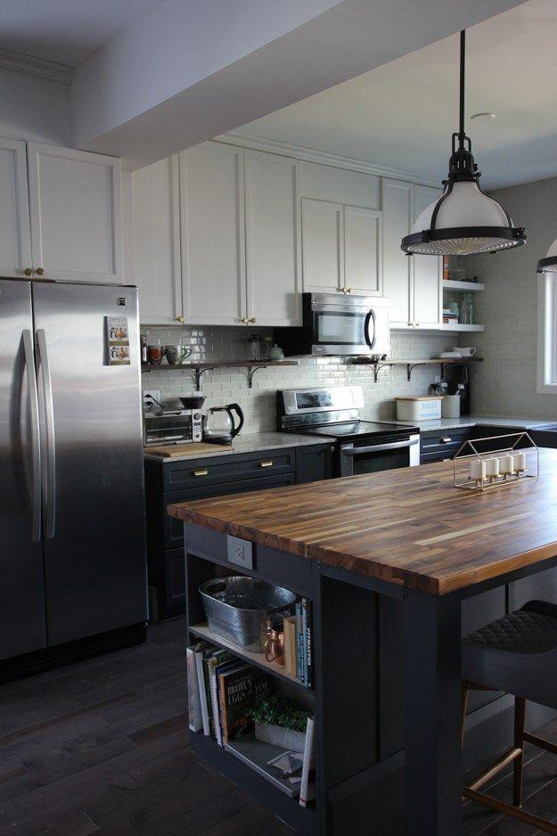 DIY Kitchen Island using Ikea cabinets and MDF | Kitchen ...