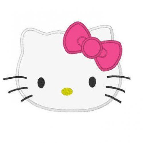 Kitty Head Digitized Embroidery Machine Applique Design